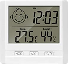 ONEVER Termómetro electrónico electrónico Higrómetro Smiley Face Thermo Hygrometer para Sala de niños de Interior