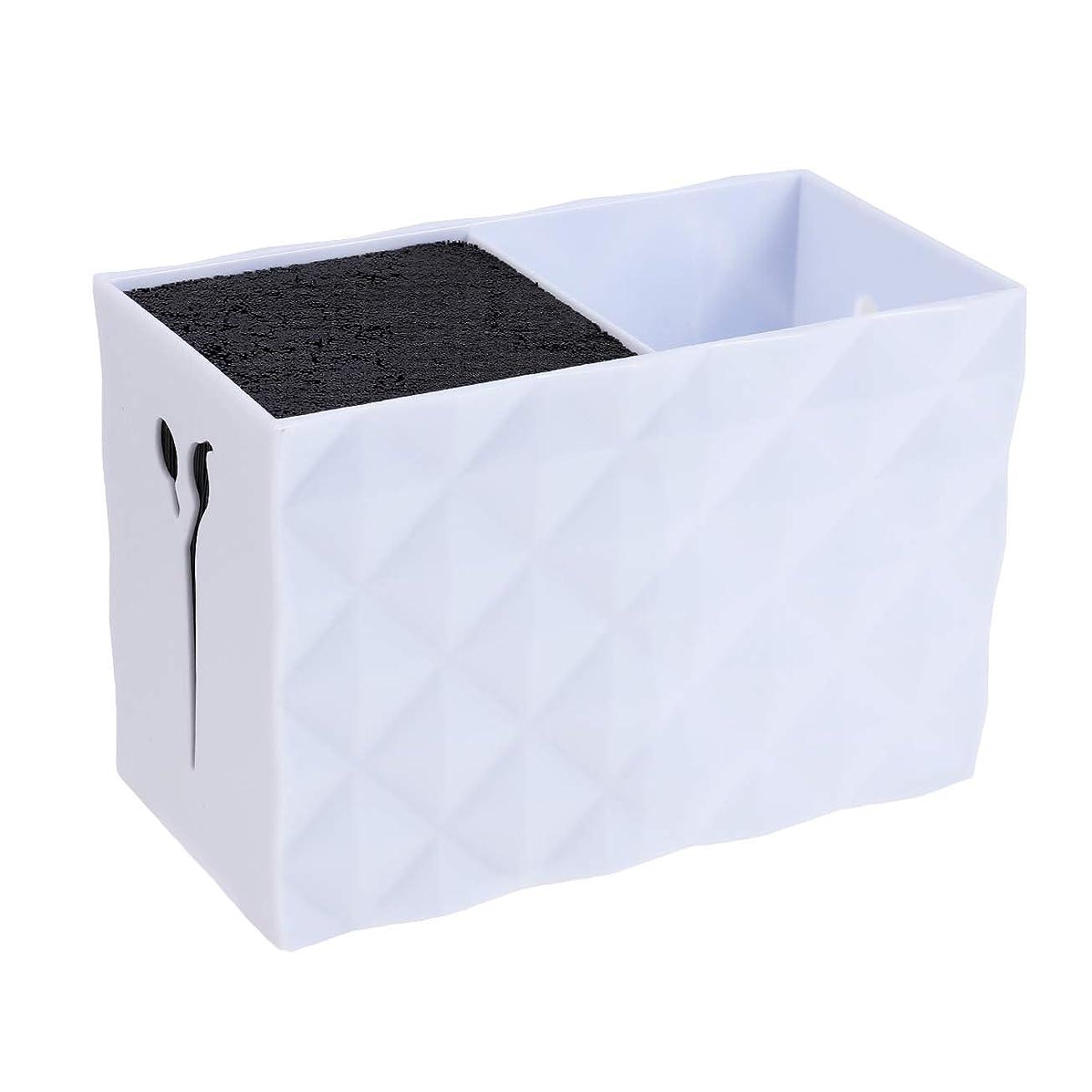 尊敬ではごきげんよう自分の力ですべてをするFrcolor シザーキューブ はさみ立て シザーケース トリミング 収納 ペン立て 美容師 美容院 サロン ハサミスタンド メイク道具 自由収納(ホワイト)
