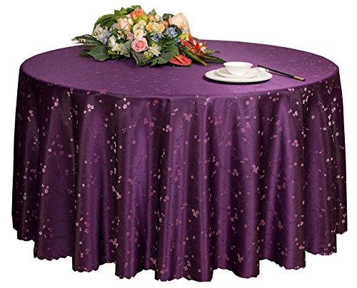 Black Temptation Hôtels Mariages Banquets Accessoires de Table Nappes Rondes Couverture de Table Violet (200 * 200CM)