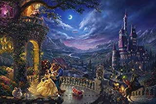 Thomas Kinkade - The Disney Collection - Beauty and The Beast Dancing in The Moonlight, 750 Pieces