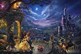 Ceaco Thomas Kinkade The Disney Collection Beauty and The Beast Dancing in The Moonlight Jigsaw Puzzle, 750 Pieces