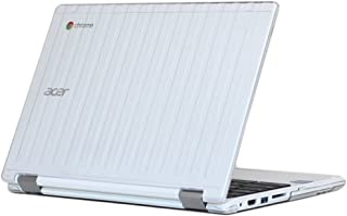 """iPearl mCover Hard Shell Case for 13.3"""" Acer Chromebook R13 CB5-312T series (NOT compatible with Acer R11 and other 11.6"""" chromebooks) Convertible Laptop (Acer R13) (Clear)"""