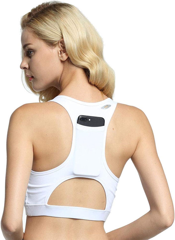 Women's Yoga Bra Sports Bra Back Pocket Portable Cell Phone Yoga Shockproof Sports Bra Female