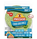 Mission Carb Balance Spinach Herb Tortilla Wraps 8' 2/8 Count (16 Tortillas)