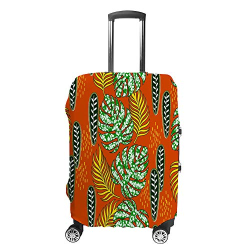 CHEHONG Suitcase Cover Luggage Cover Plants Vibrant Colours Travel Trolley Case Protective Washable Polyester Fiber Elastic Dustproof Fits 26-28 Inch