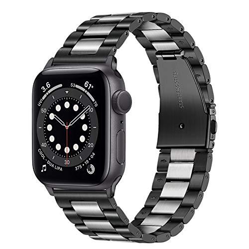TRUMiRR Compatible con Apple Watch 44mm 42mm Correa, Banda de Reloj de Acero Inoxidable Correa de Metal Banda de Repuesto para iWatch Apple Watch SE/Apple Watch Series 6 5 4 3 2 1