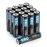 EBL 16 - Lote de 16 pilas de litio AAA (1200 mAh, 1,5 V, alta tensión, no recargables)