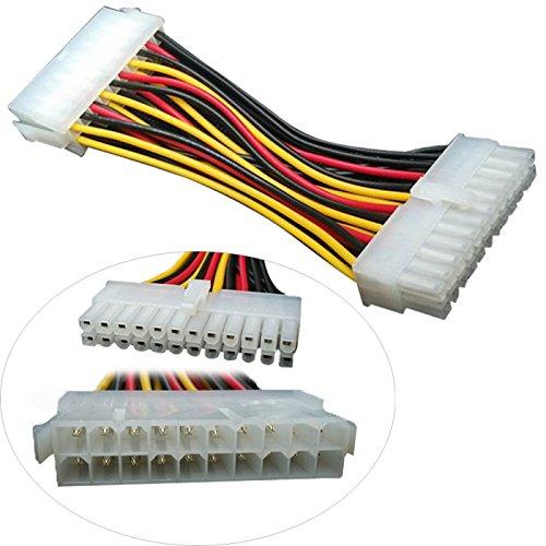 P27 Adapter Kabel Netzteil 20pin Stecker auf 24pin Buchse für Mainboard ca. 10cm