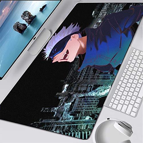 Anime Jujutsu Kaisen Gaming Mauspad mit Verriegelung Rand groß Computer Gamer Cs Go Tastatur Mauspad Schreibtisch Mauspad Manga Teppich