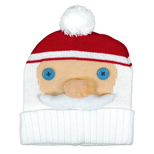 amscan Fun-Filled Christmas & Holiday Party Santa Knit Hat, Red/White, 11' x 8'