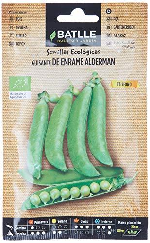 Semillas Ecológicas Leguminosas - Guisante de enrame Alderman - ECO - Batlle
