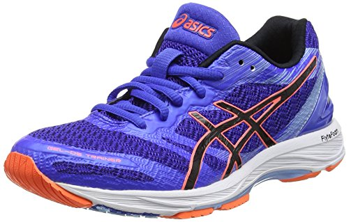 ASICS Damen Gel-DS Trainer 22 Laufschuhe, Blau (Blue Purple/Black/Flash Coral), 39.5 EU
