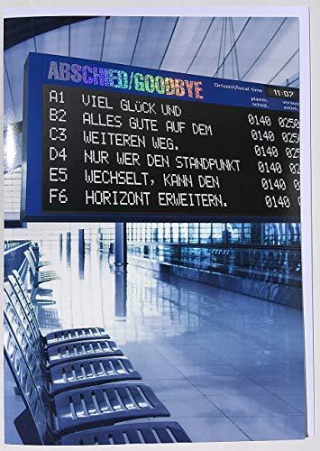 A4 MAXI Abschiedskarte Abschied/Goodbye