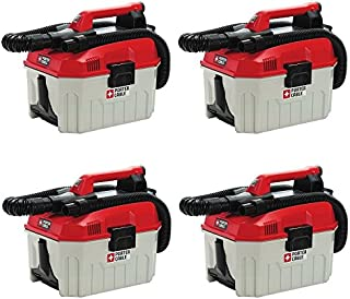 Porter-Cable PCC795B 20V Max Wet/Dry Vacuum, 2 Gallon (Pack of 4)
