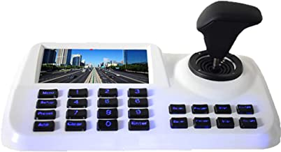 Inesun PTZ Controller Joystick LCD Security (Pan Tilt Zoom) Speed Dome Camera 5 inch 3D HD LCD Display Keyboard Controller, White