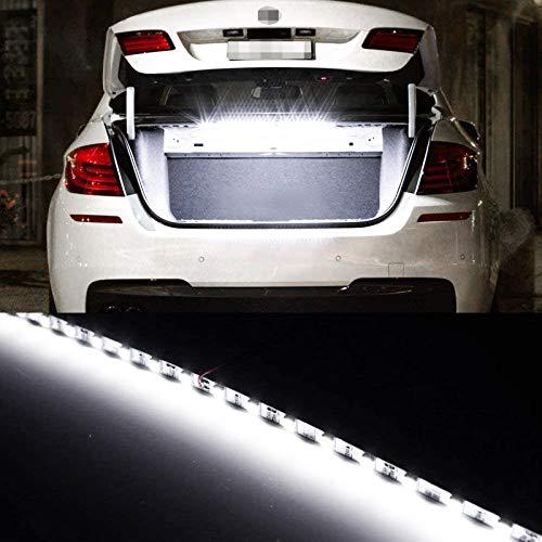 Xotic Tech Super Bright White 18-SMD LED Strip Light Car Trunk Cargo Area or Interior Illumination, 6000K, Xenon White