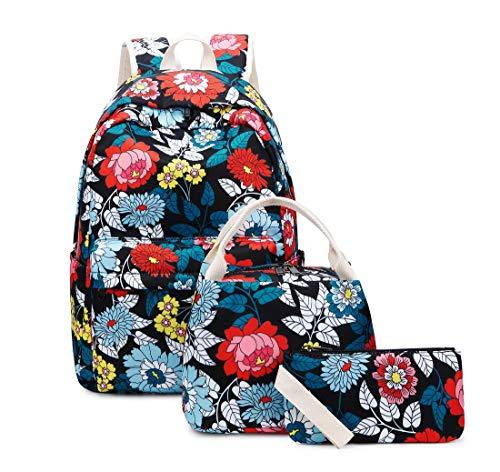 Joymoze Teen Girl School Backpack with Insulated Lunch Bag Pencil Purse...