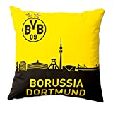 Borussia Dortmund, BVB-Kissen mit Skyline, Schwarz / Gelb, 40x40cm