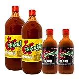 2 Botellas de Salsa Picante Valentina Roja de 1L y de regalo 2 botellas pequeñas de Salsa...