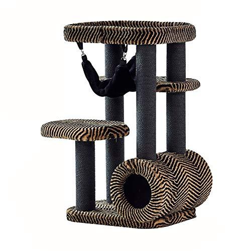 GBY Kat klimframe kat nest kat hangmat, kat springen platform kat tunnel integratie, kat villa kat frame kat boom, geschikt voor binnen, 85 * 50 * 40cm
