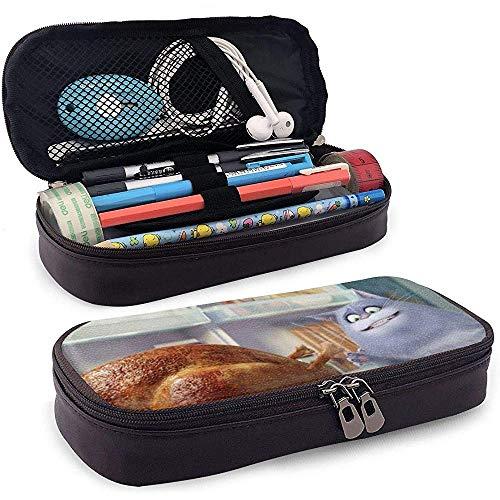 Gourmet Cat Print Pen Federmäppchen aus Leder Wasserdichte kleine Werkzeugtasche