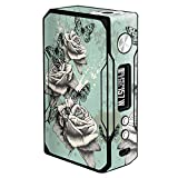 IT'S A SKIN Decal Vinyl Wrap for VooPoo Drag 157W Mod Stickers Sleeve/Butterflies Roses Teal Distressed Vintage