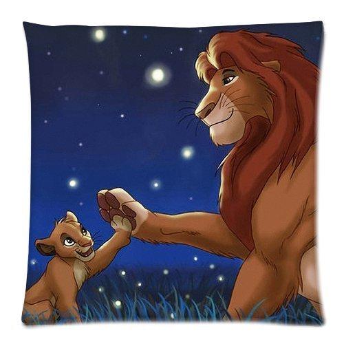 artoutletmf 3641 le Lion roi Mufasa Simba en lin/coton couvre-lit décoratif taie d'oreiller carré Housse de coussin 18 x 18