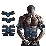 Cali Jade EMS Muscle Trainer, Abs Muscle Stimulator Abdominal Muscle Toner Gym Workout y Home Fitness Training Belt para Hombres y Mujeres con 10 Almohadillas de Gel