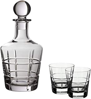 Villeroy & Boch - Ardmore Club Whisky Set 3 pcs, Whisky Set containing Decanter and Glasses, Crystal, Transparent, 0.75 ml...