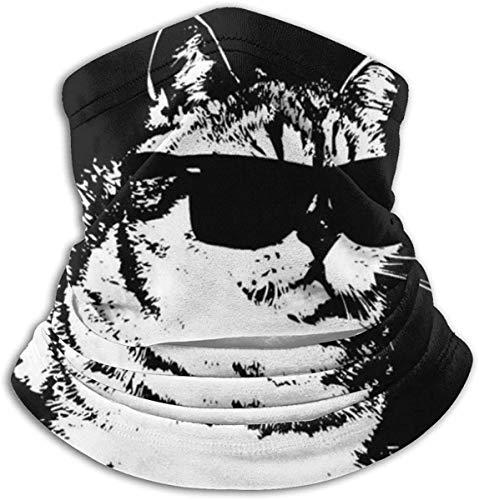 JINZUO Paño facial para deportes, compatible con gafas de sol Cat Deal With It Bandanas para polvo, al aire libre, festivales, deportes