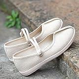 YYYSHOPP scarpe ricamate stile nazionale scarpe hanfu ricamate ballando antico stile vecchio Pechino scarpe di stoffa donne Mary Janes (colore : Beige, Taglia : 5)