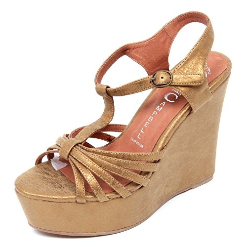 Jeffrey Campbell D2206 Sandalo Donna SWANSONG Scarpe Bronzo Shoe Woman [39]
