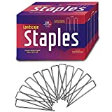 Ashman Garden Landscape Staples Stakes Pins SOD Staples for Weed Barrier Fabric, Ground Cover, Garden Hose, Lawn Drippers, Drip Irrigation Tubing, 200 Count Heavy Duty & Anti Rust