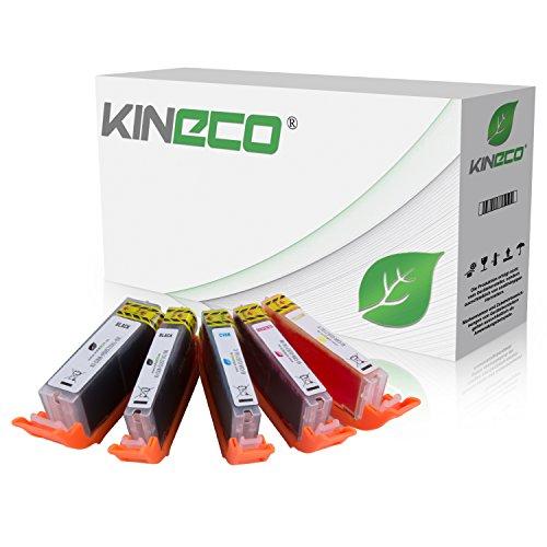 Kineco kompatibel mit Canon PGI-570 XL CLI 571 XL Druckerpatronen [5] für Canon Pixma MG5750 MG5751 MG5752 MG5753 MG6850 MG6851 MG6852 MG6853 TS5050 TS5051 TS5053 TS5055 TS6050 TS6051 TS6052