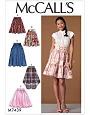 تنانير McCall Patterns M7439E50 Misses' لامعة