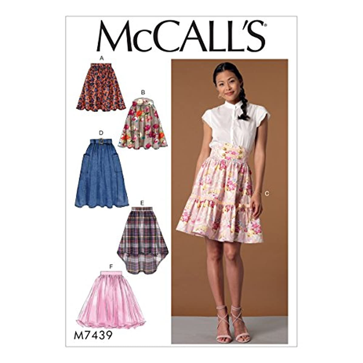 McCall Patterns M7439E50 Misses' Flared Skirts
