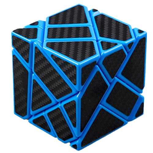 Cuberspeed Ghost 3x3 Blue Magic Cube 3x3 Ghost 3x3x3 Speed Cube with Black Carbon Fiber Stickers