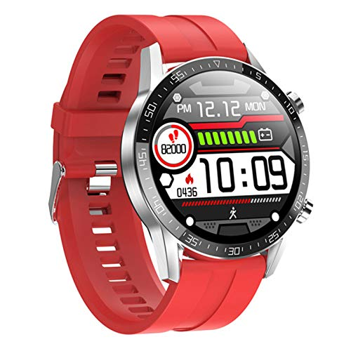AKY L13 Smart Watch Men, Pantalla táctil Completa Bluetooth Call ECG Presión Arterial Rate Fitness Tracker SmartWatch PK L19 L19 para Android iOS,B