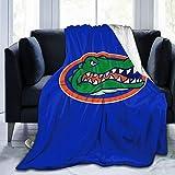 Florida Gators Throw Blanket Lightweight Ultra-Soft Fleece Warm, Living Room/Bedroom/Sofa Couch Bed Flannel Quilt