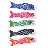 Doitool 5 piezas japonesas Carpa windsock Streamer pescado bandera cometa Koinobori colgado mobiliario para sushi bar japonés izakaya Room 40 cm