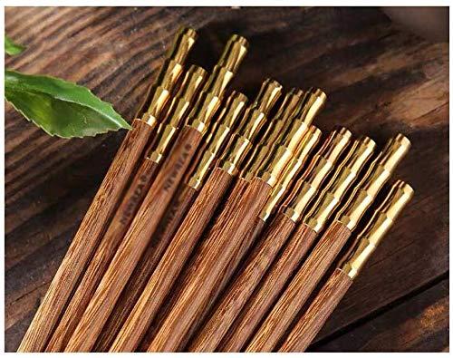 Palillos Chinos Los Palillos De Madera De Bambú 10 Pares | Antideslizantes Palillos Reutilizables For Vajilla De Fideos Palillos japoneses