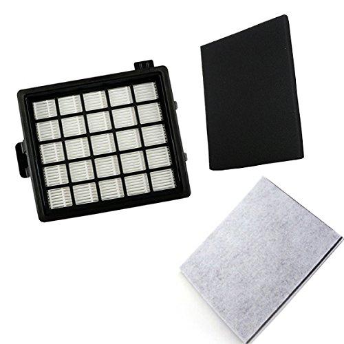 TeKeHom - Kit di filtri HEPA con schiuma e protezione motore per aspirapolvere Philips EasyLife (confronta con FC8071/01)
