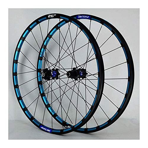 YOOXI Ruedas de Bicicleta de Montaña 26/27,5 Pulgadas, Llanta MTB, Freno de Disco de 24 Orificios, 11 Velocidades (Color : Black, Size : 26inch)