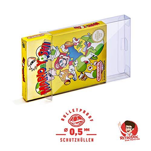20 Klarsicht Schutzhüllen NINTENDO ENTERTAINMENT SYSTEM NES - 0,5MM - ARMOURED - NES BOX OVP - Spiele Originalverpackung Passgenau Glasklar Panzerglasoptik