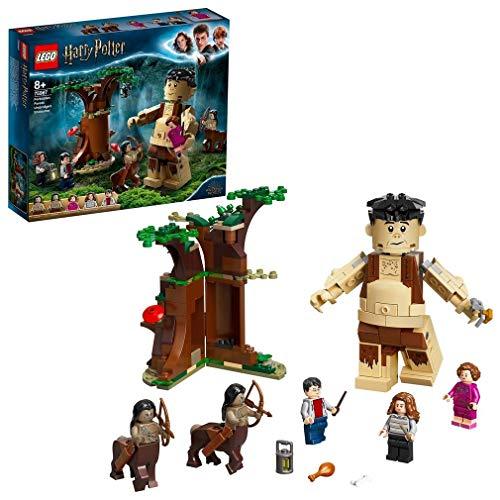 LEGO 75967 Harry Potter Der Verbotene Wald: Begegnung mit Umbridge, Bauset mit dem Riesen Grawp und 2 Zentauren-Figuren
