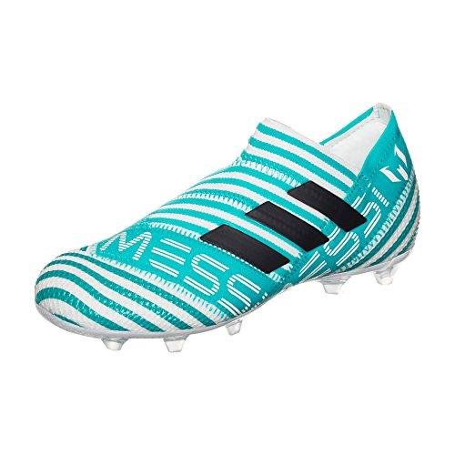 adidas adidas Unisex-Kinder Nemeziz Messi 17+ 360Agility FG Fußballschuhe, Weiß (Weiß/Türkis Weiß/Türkis), 38 2/3 EU