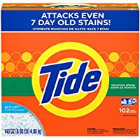 Tide Powder Laundry Detergent, Mountain Spring 102 Loads, 143 oz