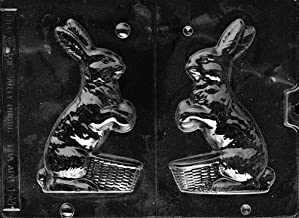 Cybrtrayd Life of the Party E104 Bunny with Basket Easter Chocolate Candy Mold in Sealed Protective Poly Bag Imprinted with Copyrighted Cybrtrayd Molding Instructions
