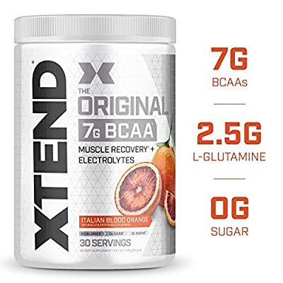 XTEND Original BCAA Powder Italian Blood Orange ice | Sugar Free Post Workout Muscle Recovery Drink with Amino Acids | 7g BCAAs for Men & Women| 30 Servings
