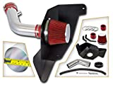 Cold Air Intake System with Heat Shield Kit + Filter Combo RED Compatible For 15-17 Ford Mustang 3.7L V6